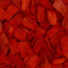 Holzhackschnitzel Rot Dekor Fall Schutz Farbiger Holz Hackgut Häcksel 70l Sack