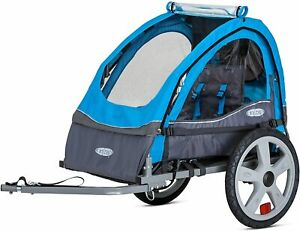 Instep Bike Trailer for Toddlers, Kids, Single and Double Seat, 2-In-1Carrier