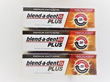 3 x 40g blend-a-dent PLUS Premium Haftcreme - Geschmacksneutral - Duo Kraft