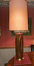 """VTG MCM Danish Modern Teak Lamp - Brass Base - MCM Lighting 35"""" TO FINIAL"""