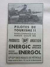 2/1933 PUB SOCIETE HUILE PETROLE BP AVIATION ESSENCE ARC-EN-CIEL COUZINET AD