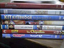 (11) Girls DVD Lot: Disney Little Mermaid II  Dora  Spirited Away  Kit Kittredge
