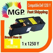 1x Generic Yellow toner cartridge for Dell Printer 1250 1250C 1355CN 1355CNW