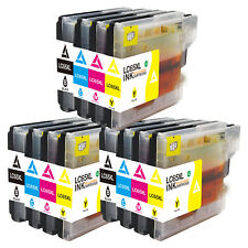 12x LC61 Ink Cartridge for Brother MFC-J615W MFC-J270W MFC-290C MFC-490C Printer