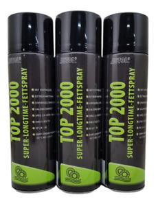 Autol Top 2000 Fettspray 3x500ml 14,60€/L Super Langzeit Hafftfett Kettenspray