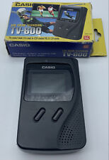 LCD Color Television Casio TV-600 Portatile Vintage Funzionante