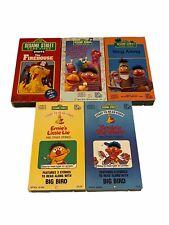 sesame street sing along & start-to-read VHS lot of 5 - Ernie, Bigbird Bert