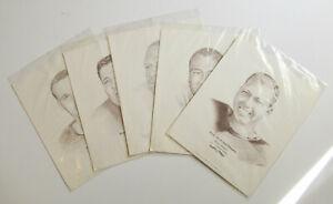 Green Bay Packers 10 portraits Bart Starr Dowler Kostelnik Aldridge Davis 1967