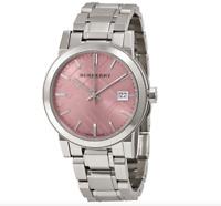 Burberry BU9124 City Analog Silver Tone Ladies Wrist Watch 1707