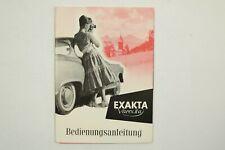 EXAKTA Varex IIa - Bedienungsanleitung - Ihagee Dresden Gebrauchsanleitung