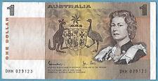 Australian 1982 $1 One Dollar Johnston Stone Note DHH029123