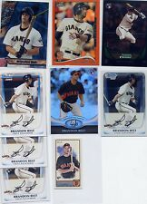 Brandon Belt rc lot 2011 Bowman / Chrome / Allen & GInter mini / Orange Refracto