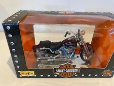 Harley Davidson 2001 FXSTS Springer Softail 1:18 Die Cast Maisto Srs