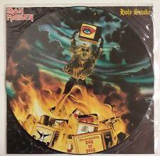 "Iron Maiden Holy Smoke Maxisingle 12"" 1990 Fotodisco color + encarte + funda PVC"