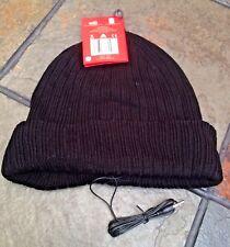 Knitted Black Music Beanie Hat with Built in Audio Headphones Earphones Iphone