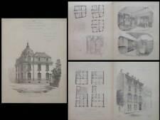 RENNES, HOTEL MAULIAN, 2 RUE DE PARIS -GRAVURES 1900-PARIS, 8 RUE DE LOTA, LALOY