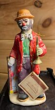 Emmett Kelly Jr Collectible figure by Flambro: Hobo Clown and Bugle/Horn/Trumpet