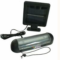 NEW 10 LED SOLAR POWER GARDEN SHED LIGHT RECHARGEABLE GARAGE STABLE + FIXINGS