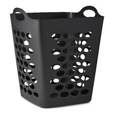 Black 2 Bushel Laundry Hamper Durable Flexible Clothes Plastic Storage Basket