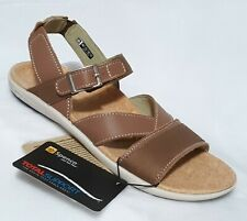 SPENCO Ashley Total Support Taupe Leather Canvas Sandals US Size 9M
