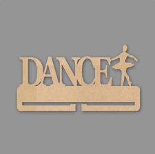 Dance (with 1 dancer) Medal Holder - 4mm MDF Wooden Craft Blank