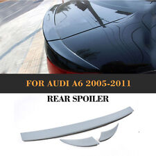 PU Rear Bumper Spoiler Boot Wing Lip for Audi A6 Base Sedan 05-11 Unpainted