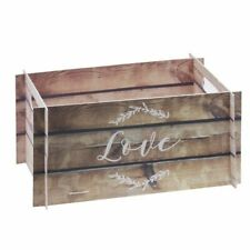 Wooden Effect Card Crate - Wedding Card Box