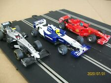 3-SCX indy cars with scaletric digital conversion kit installed (these run great