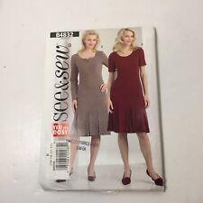 See & Sew 4832 Size 16-22 Misses' Misses' Petite Dress