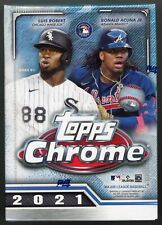 2021 Topps Chrome Baseball SEALED BLASTER BOX MLB *8 Packs* Pink Sepia RC MORE~
