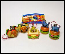 DISNEY lilo and stitch Hamburger Mascot Keychain Mini Figure Collection New 5pcs