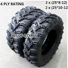 4x 12 Inch Tyre tire 200/250/300/450/600/650CC Quad Bike ATV Mower GoKart TDRMOT