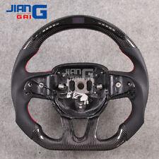 LED Carbon Fiber Steering Wheel Fit in 2015+ DODGE Challenger Hellcat Charger