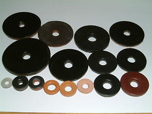 Leather Washers-I/D's from 4.3mm up to 11.9mm. 18 different sizes, 10 per pack