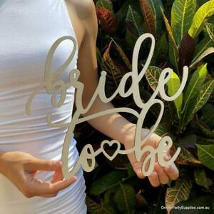 Wooden 'Bride To Be' with Heart Bridal Shower Hanging Wall Sign - 40cm x 40cm