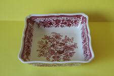 Villeroy und Boch Fasan Rot Schüssel Servierschüssel viereckig 21 x 21 cm