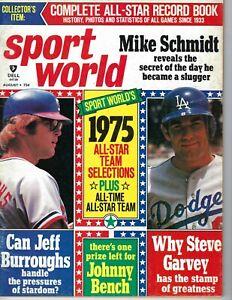 1975 Sport World baseball magazine Jeff Burroughs Texas Rangers, Steve Garvey