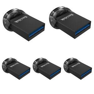 USB Drive 3.0 3.1 SanDisk 16GB 32GB 64GB 128GB 256GB Ultra Fit Flash Memory