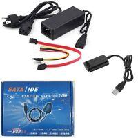 USB 2.0 to IDE SATA S-ATA 2.5 3.5 Hard Drive HD HDD Converter Adapter Cable New