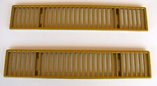 OEM CORVETTE REAR DECK VENT GRILLES OFF A 1973 CORVETTE YELLOW OR GOLD? L@@K