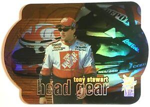 Tony Stewart Laser Die-cut Head Gear 2000 Press Pass VIP NASCAR Card HG3