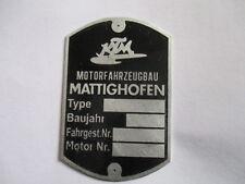 Schild KTM Typenschild Oldtimer  KTM Motorfahrzeugbau Mattighofen s29