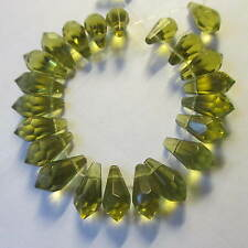 100 pcs Faceted Glass Teardrop  Beads 11 colours - Jewellery Making & Crafts