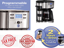 Brewer Coffee Maker Single Serve 2 Way Programable 12 Cup Carafe Stainless Steel