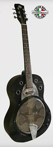 Resobelle© Black Blues Dobro custom guitar resophonic  by Robert Matteacci