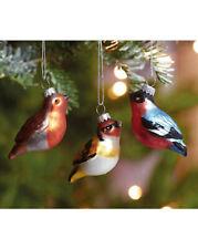 Set 6 Box Vintage Style Glass Birds Christmas Tree Decorations Baubles