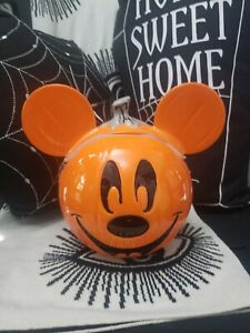 NEW Disney MICKEY MOUSE Shaped HALLOWEEN PUMPKIN Ceramic Cookie Jar