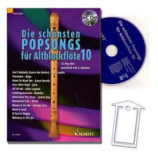 Die schönsten Popsongs für Alt-Blockflöte Band 10, CD - ED22380 - 9783795709181