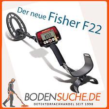 Fisher F22 Metalldetektor mit integriertem Pinpointer -> Neuware vom Fachhändler