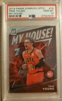 2019-20 Panini Optic Trae Young My House! Insert Card PSA 10 - Invest - Hawks